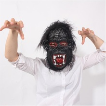 Hot sale Horror Screaming Bloody Face Off Horror Mask Halloween Costume Mask Halloween Decorations Blood Gorilla Mask(China)