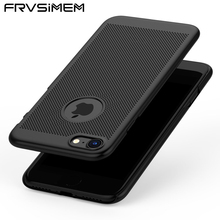 FRVSIMEM Heat Dissipation Breathable Matte Phone Case Hard Full Coverage Cover For iphone X 6 6s 7 8 Plus 5 5s SE 10 Man Woman