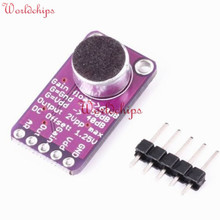 MAX9814 Microphone Amplifier Board Module Auto Gain Max 40dB/50dB/60dB Frequency 20Hz - 20 KHz 2.7V-5.5V With Pins for Arduino