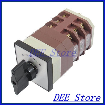 Three Position 12 Screw Terminals AC 380V 16A Momentary Cam Changeover Switch<br><br>Aliexpress