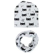 Y27 Fashion Boys Girls Beautiful Star Infant Hats Scarfs Set Baby Hat Baby Caps 2 Pcs New(China)