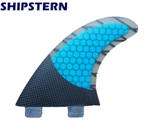 quilhas fcs Free Shipping Blue Fcs Fins Surfboard Fins Surf Fins Surfing Fins G5(3 pcs)(China)