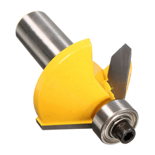 45 Degree Chamfer & Bevel Edging Router Bit-1/2 Inch Shank 2-1/4 Inch (57mm) Wood Cutter For WoodWorking(China)