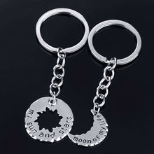 Sun Star Moon Life 2PC/Set Keyring Friend Family Love Gifts For Wedding Women Men Lover Keychain Key Ring Souvenirs Chain
