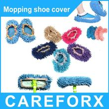 Multifunction Micro Fiber Mop Shoes Cover Dusting Floor Cleaner Cleaning Slippers
