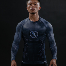 Buy ZOOM 3D Printed T-shirts Men Raglan Long Sleeve Compression Shirt Flash Cosplay Costume crossfit fitness Clothing Tops Male for $6.90 in AliExpress store