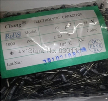 Free Shipping DIP Electrolytic capacitor 10UF 25V 4*7mm 100pcs/lot NEW in stock if can not find the value pls contact us