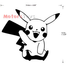 Funny JDM Cute Pikachu Say Hello Hellaflush Vinyl Laptop Car Sticker Decal