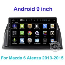 Android Quad-core HD 1024*600 Car DVD Stereo For Mazda 6 Atenza 2013 2014 2015 GPS Navigation Audio Video Player Radio 3G WiFi