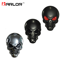 Karlor 8x5.5cm Large 3D 3M Skull Metal Skeleton Crossbones Car Motorcycle Sticker Emblem Badge car styling stickers accessories