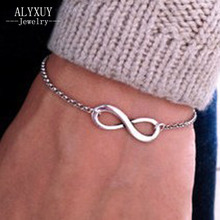 New fashion jewelry gold color charm Infinity bracelet bijouterie nice gift wholesale 1lot=2pieces B698