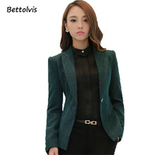 2017 New Soft Cotton Jacket Fashion Gray Green Women Casual Wear Long Sleeve Coat Feminine Clothes Ladies Vogue Top(China)