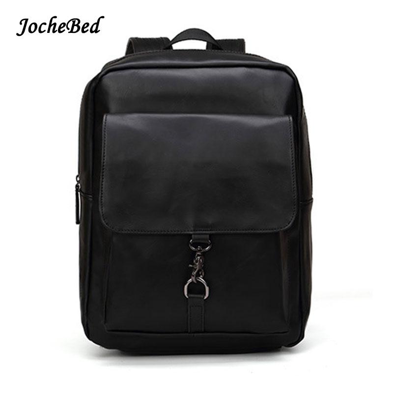 2017 Vintage Luxury Brand Solid Black Women Men Backpack Female Teenage Girl School Bag Computer Laptop Male Bagpack Mochila<br>