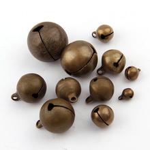 30pc/lot Bronze Metal Jingle Bells Loose Beads Festival Party Decoration/Christmas Tree Decorations/DIYCrafts Accessories(China)