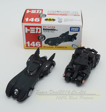 Free Shipping 2pcs/set New TOMY Tomica Marco Batman Car 4th No146/148 Batmobile Cars Diecast Metal Toy For Baby Kids Boy