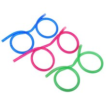 Crazy Straw Novelty Items Multi-colors Fun Drinking Unique Flexible Novelty Soft Glasses Funny Straw Glasses Drinking Tube