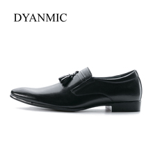 DYANMIC  Men Dress Shoes  Tassel  Party  Wedding  Loafer  Latest Designer Man Oxford Shoes Male Handmade Classic Vintage Shoes