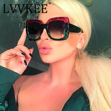 Arrival Women Square Luxury Sunglasses Oversize rayed Unique Clear Female Sun glasses Eyeglasses Big 2018 Brand Designer(China)