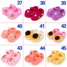Fashion Buckle Baby Boy Shoes Handmade Knitting Crochet Booties Cheap Baby Crochet Shoes 0 to 6 months