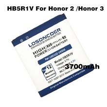 LOSONCOER 3700mAh HB5R1V for Huawei Honor 2 Battery /Honor 3 Battery Outdoor U8832D U9508 U8836D Ascent G600 U8950D T8950 C8950D