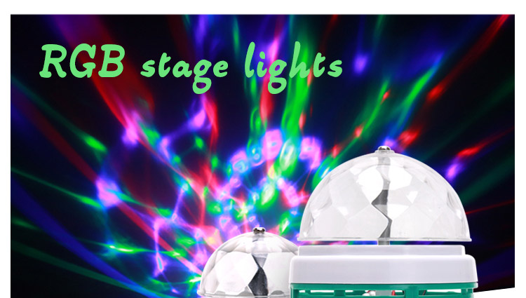 E27 Colorful LED Night light RGB Auto Rotating Stage light Christmas Laser Light Projector LED Bulb Stage Light Party Lamp J