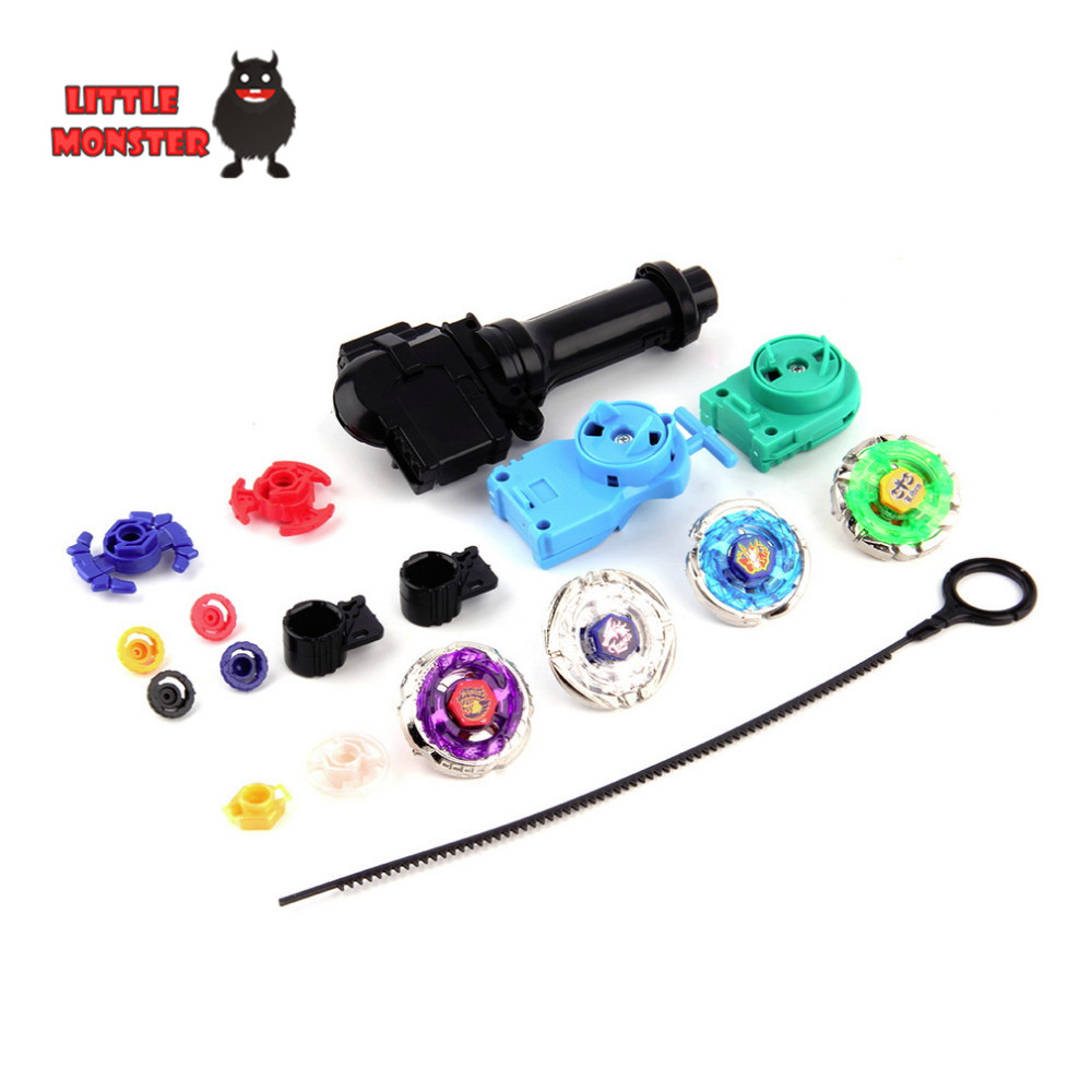 Hot 1set New Metal Beyblade Set Spinning Top Toys Rapidity Metal Fusion Fight Lacuncher Master Rare Toy Classic Toys(China (Mainland))