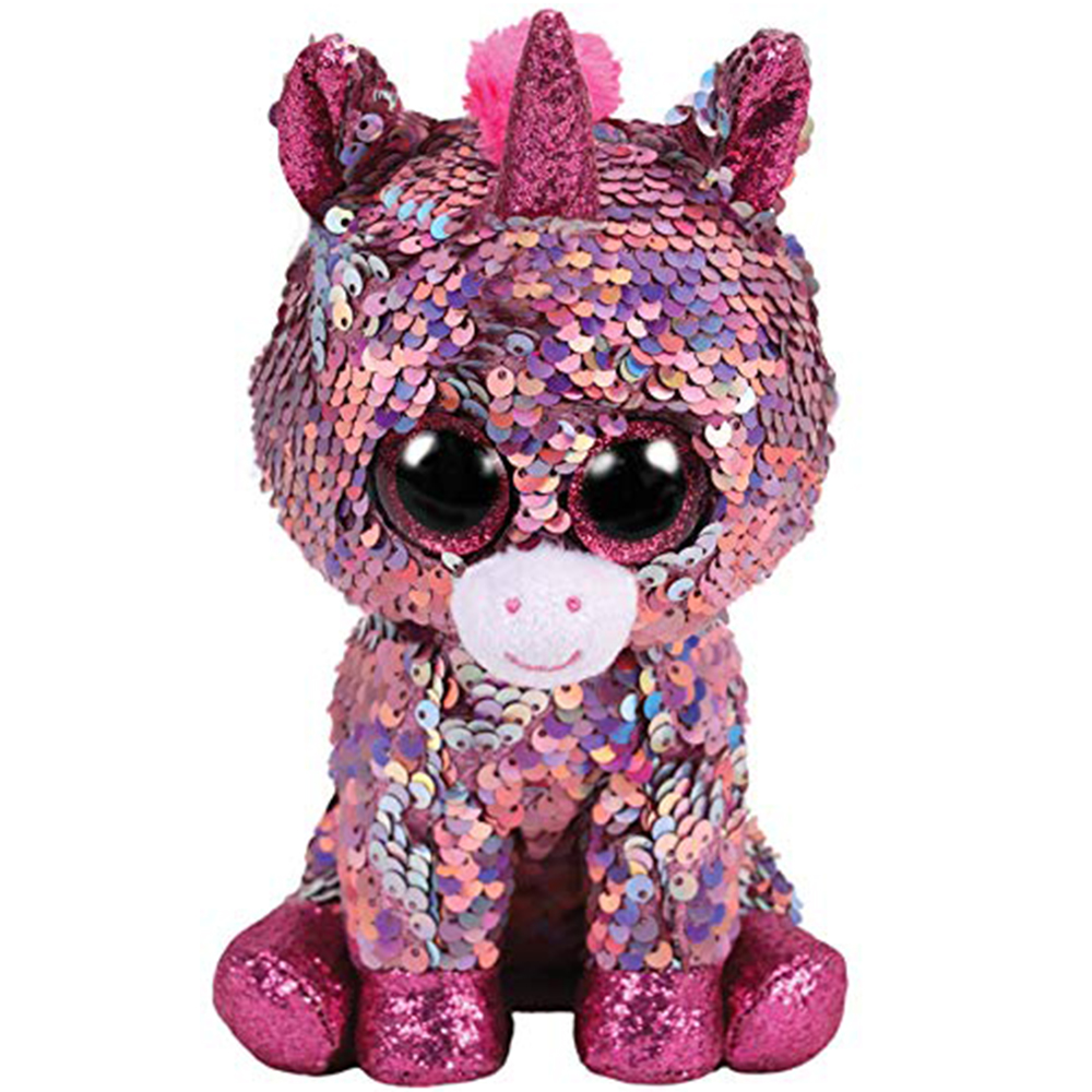 "6/"" TY Beanie Boo/'s Diamond the Unicorn 2018 New Glitter Eyes With Tag Plush Toys"