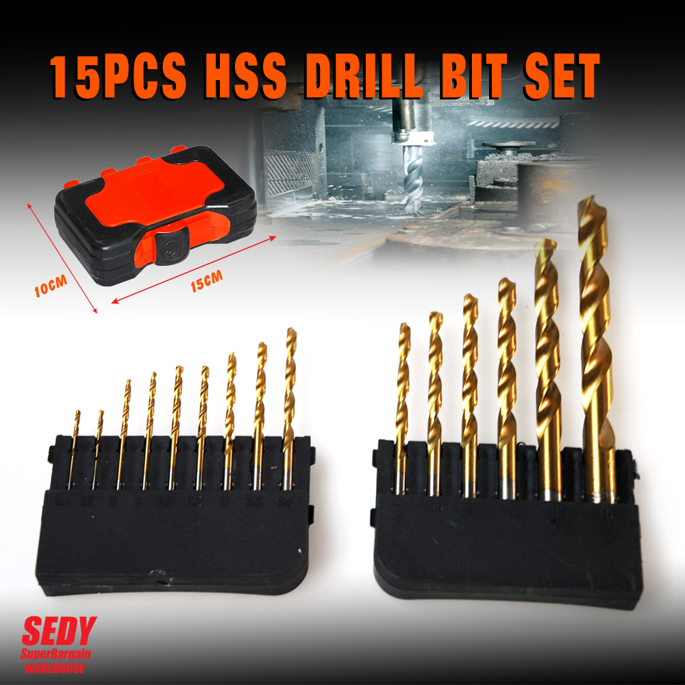 High Quality 15PC electric impact drill tungsten steel bit cement wall High hardness drill  5pcs/pack 4-10mm set<br><br>Aliexpress