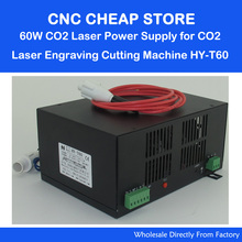 HY T60 220V/110V 60W Tube CO2 Laser Power Supply PSU Equipment DIY Engraver Engraving Cutting Laser Cutter Machine 6090 900 690(China)