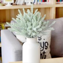 Christmas Fluff Artificial Silk Flower Decoration Rustic Staghorn Leaves For Dinner Table Wedding Decoration Cheap Fake Flowers