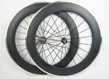 88mm clincher carbon wheels with alloy brake surface with Novatec hub 8/9/10/11 speed available including painting
