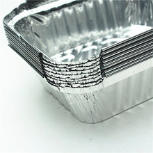 die kao xiang 10PCS Tin cardboard box disposable lunch fast food packing baked lunch tin foil aluminum foil box bowl rectangular(China)