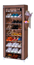 FREE shipping 9 Tier Non-woven Homestyle Shoe Cabinet Shoes Racks Storage Large Capacity Home Furniture Diy Simple(China)