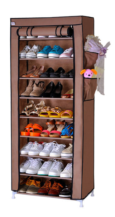FREE shipping 9 Tier  Non-woven Homestyle Shoe Cabinet Shoes Racks Storage Large Capacity Home Furniture Diy Simple<br>