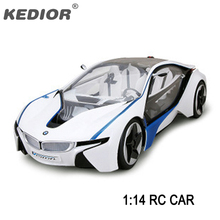Free shipping 4CH Remote Control Car 1:14 RC Car VED i8 Electric Radio control Toys Vehicle Machines for kids