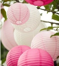 100pcs/Lot 8''(20cm) Round Chinese Paper Lantern Wedding Party Supplies Home Decor Wedding Favors Holiday Supplies(China)