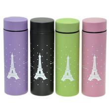 Paris Eiffel Tower Stainless Steel Portable Vacuum Cup Flask 300ml best gift ,whith package box