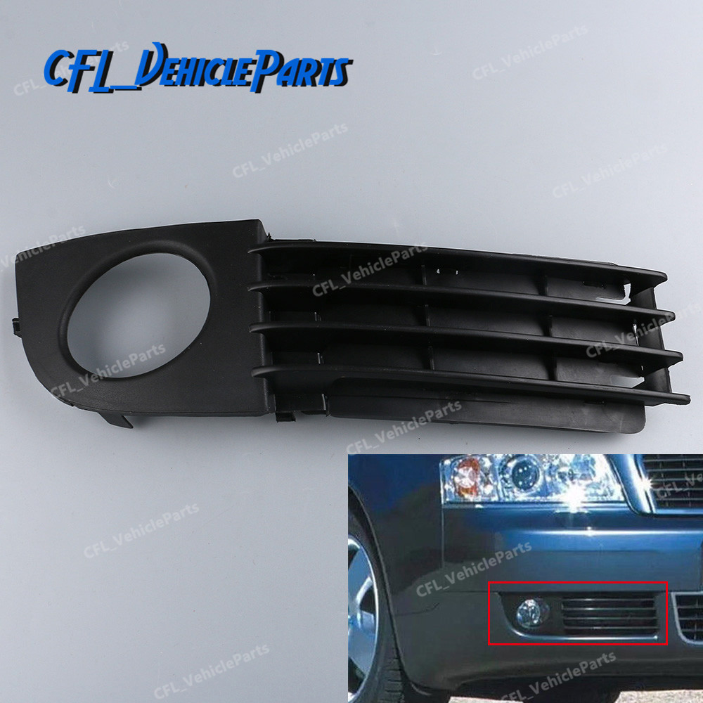 NEW AUDI A4 2007 right front bumper lower grille with fog lights hole RH