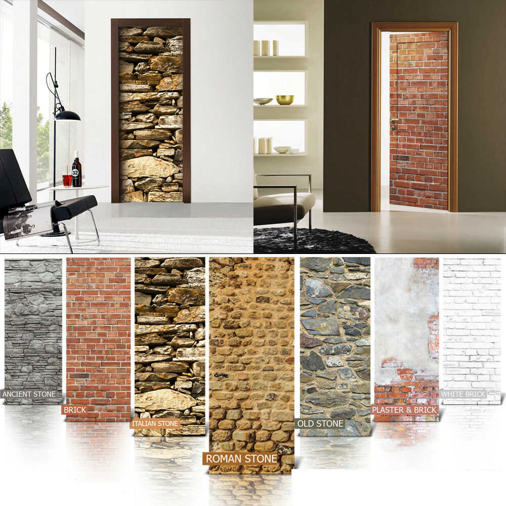 Self adhesive Door Wall wrap removable Peel /& Stick Decal Wooden background