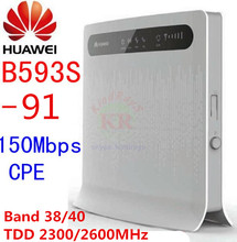 Unlocked HUAWEI B593S-91 b593 4G LTE wifi router TDD 4g wifi cpe car hotspot 3g 4g wireless dongle cpe pk b683 e5172 e5186
