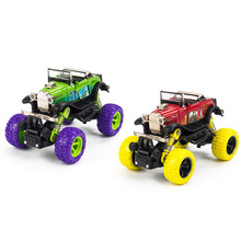 2017 Mini Alloy Metal Diecast Car 1: 34 Scale Baby Toys Kids Pull Back Off-road Beat-up Open Car Vehicle Gift Toy for Children