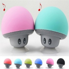 Wireless Bluetooth Speaker Heavy Bass Stereo Music Player Portable Mini Mushroom Speaker Cute Loudspeaker Suction Cup Subwoofer