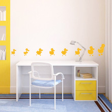8 small yellow duck pattern children's room skirting wall stickers living room bedroom baby room kindergarten wall stickers(China)