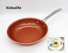 26cm Non-stick Copper Frying Pan With Ceramic Coating and Induction Cooking Frying Red Pans Oven & Dishwasher Safe