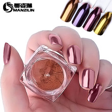 MANZILIN 1pc 2g Mirror Nail Glitter AC43 Polishing For Nails Glitters Powder Dust Shinning Pigment Rose Gold Holographic Vtirka(China)