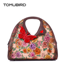 TOMUBIRD 2017 New women genuine leather bag fashion Handmade embossing real leather art bag women leather handbags