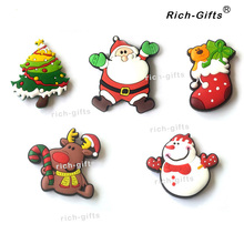 Fridge magnets Customized Christmas Decoration PVC Soft Robber Promotional Gifts Magnetic Sticker refrigerator Magnet souvenirs(China)