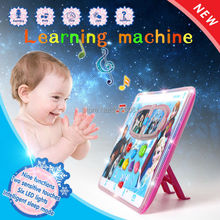 3D ipad toy ice snow princess puzzle learning machine,cartoon character multifunction music machine touch screen with light(China)