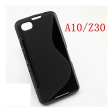 New Soft Silicone Simple TPU Gel S line wave Skin Back Cover Case For Blackberry Z30 A10 Case(China)