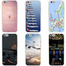 4GG Pink Travel Aircraft Hard Transparent Cover Case for iphone 4 4s 5 5s 6 6s plus 7 7 Plus